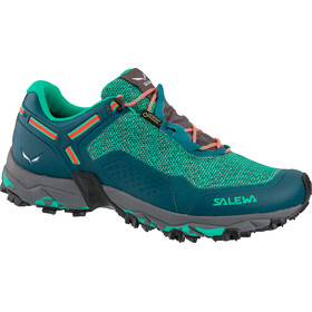 Salewa W's Speed Beat GTX Shoes Shaded Spruce/Fluo Coral